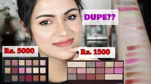 huda beauty rose gold dupe makeup