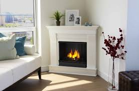 modern corner gas fireplace homes by