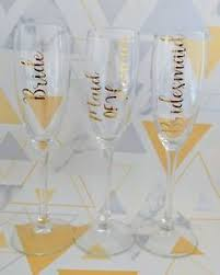 Diy Champagne Flute Vinyl Decal Wedding Favour Gift Hen Party Favour Gift Ebay