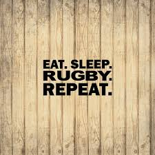Eat Sleep Rugby Repeat Decal Sticker Rugby Life Etsy