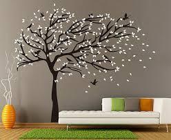 X Large Birds Tree Branch Wall Stickers Vinyl Decals Uk Rui250 Ebay
