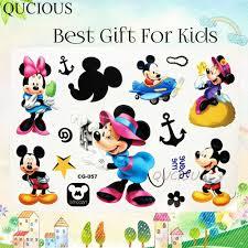 Phim Hoạt Hình Nổi Tiếng Tatoo Tạm Thời Minnie Chuột Mickey Hình Dán Tattoo  Cho Bé