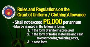 clothing allowance
