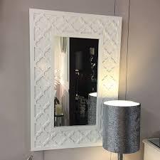 blanca white wooden frame framed wall