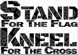 Stand For The Flag Kneel For The Cross Car Decal Ushirika Coop