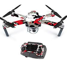 Amazon Com Mightyskins Skin Compatible With Dji Mavic Pro Quadcopter Drone Red Camo Protective Durable And Unique Vinyl Decal Wrap Cover Easy To Apply Remove And Change Styles Made