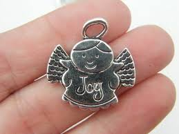 angel joy pendants antique silver tone