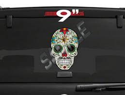 Football Nfl Sugar Skull Day Of The Dead Vinyl Decal Car Truck Window Bumper Sticker 9 Ssc1 Sports Mem Cards Fan Shop Cub Co Jp