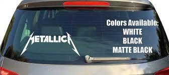 2 Metallica Vinyl Window Decals Thrash Metal Bumper Sti