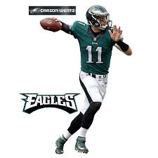 Fathead Carson Wentz Philadelphia Eagles 3 Pack Life Size Removable Wall Decal