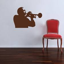 Trumpet Player Decal Adhesive Trumpet Vinyl Stickers Music Bedroom Decals Trendy Wall Designs Music Wall Decal Music Wall Stickers Wall Decals