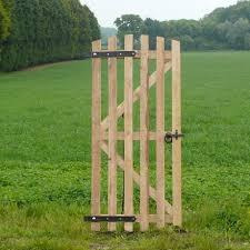 6ft Oak Picket Gate Natural Fencing