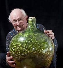 watered this sealed bottle garden