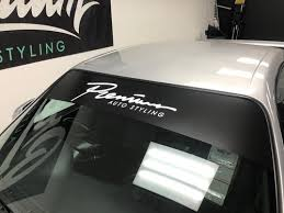 Universal Fit Windshield Banners Premium Auto Styling