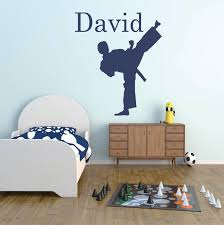 Karate Vinyl Wall Decal Personalized Karate Arts Wall Decal Etsy