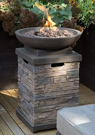 stone like outdoor patio fire pit bowl