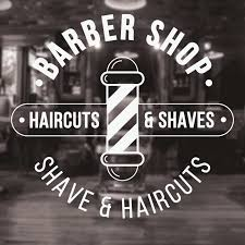 Barber Shop Vinyl Decal Traditional Barbers Haircuts Wall Decals Removable Wall Window Bearbershop Art Sign Poster Stickers G298 Wall Stickers Aliexpress