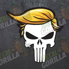 Punisher Trump Decal President Sticker Usa America Vinyl Etsy In 2020 Punisher Vinyl Cats