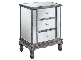 3 drawer mirrored end