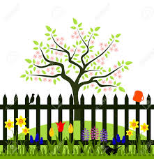 Image Result For Clipart Spring Flowers Cute Picket Fence Clipart