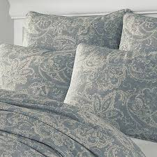 100 cotton blue ish grey cream paisley