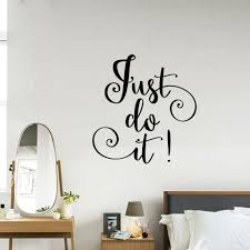 Diy Vinyl Wall Stickers Just Do It Decal Vinyl Decor Sticker Wall Art Decal Stickers For Living Room Stickers For Sticker For Living Roomdecorative Stickers Aliexpress
