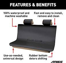 black universal bench seat cover