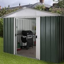 emerald deluxe apex metal garden shed