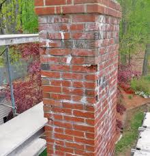 spalling brick chimney inspection