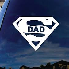 Super Dad Car Window Vinyl Decal Sticker 4 Wide
