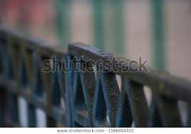 Old Fence Fence Falling Paint Stock Photo Edit Now 1586950315