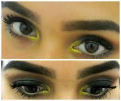 smokey green gold eye makeup tutorial