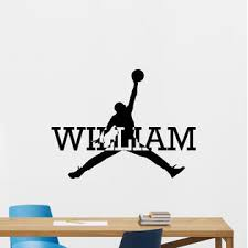 Personalized Air Jordan Wall Decal Basketball Vinyl Sticker Custom Poster 147nnn