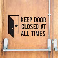 Keep Door Closed At All Times Store Business Decal Vinyl Decal Store Decals