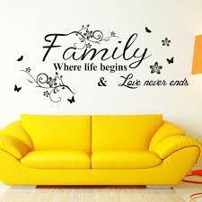 Family Letter Quote Home Wall Stickers Removable Vinyl Decal Living Room Decor For Sale Online