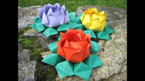 origami water lily modular