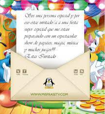 Frases De Invitaciones De Cumpleanos Infantiles Imagui