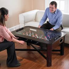 foosball coffee table set your drink
