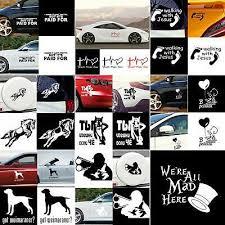 Lots Car Funny Car Sticker Truck Boat Window Bumper Vinyl Decal Decor Waterproof Ushirika Coop