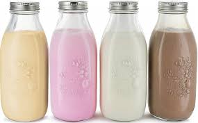 estilo dairy reusable glass milk