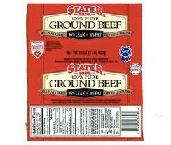 stater bros ground beef salmonella