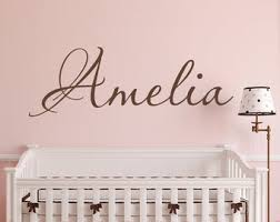 Name Wall Decal Etsy