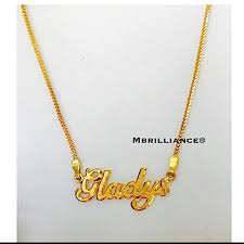916 gold name necklace custom order by