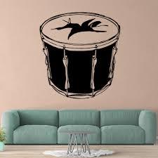 Drop Shipping Drum Wall Sticker Pvc Wall Art Wall Paper For Kids Room Wall Decor Decal Mural Living Room Art Decals Aliexpress