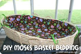 sew can do moses basket redo bedding