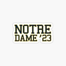 Notre Dame 2023 Stickers Redbubble