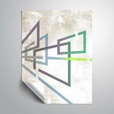 East Urban Home Geometric 7 Semi Gloss Wall Mural Wayfair