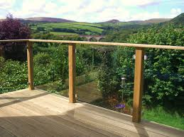 decking handrails timber glass and