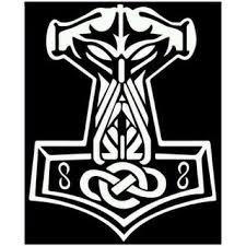 2pcs Thor S Hammer Mjolnir Viking Norse Odin Sticker Decal Heathen Freyja Shopee Malaysia