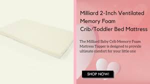 milliard 2 inch ventilated memory foam